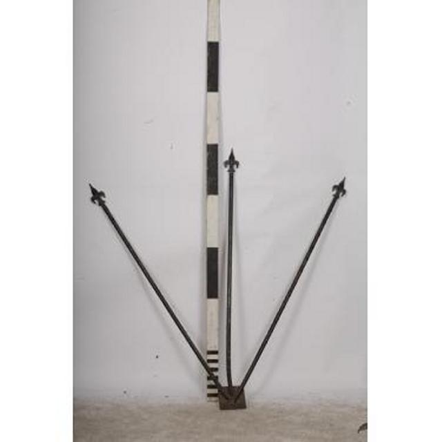 Flagpole Overdoor Three Poles