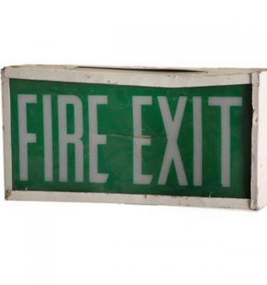 Emergency Exit Sign 20X390X90