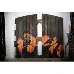 Warehouse Door Set With Graphic Design