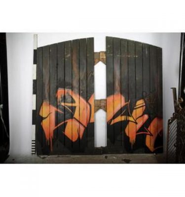 Warehouse Door Set With Graphic Design
