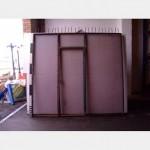 Metal Fencing Panel With Door Spiked Top