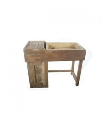 Kitchen Salt Glaze Sink 850X1100X525.