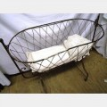 Steel Baby Crib 960Hx1020Lx520W Brown