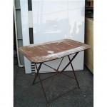 Iron Leg Folding Table  39 X 24 Inches