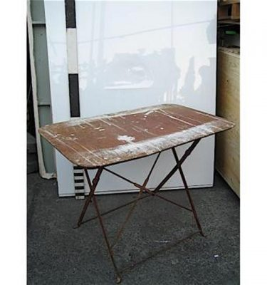 Iron Leg Folding Table  39 X 24 Inches