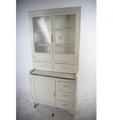 Painted White Home Kitchen Unit Glazed Door     1830X850X470