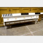 Painted Kicthen Shelf Unit 5 Drawers 1340X440High 235 Shelf