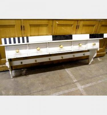 Painted Kicthen Shelf Unit 5 Drawers 1340X440High 235 Shelf