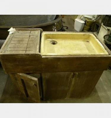 Period Sink In Old Pine Unit