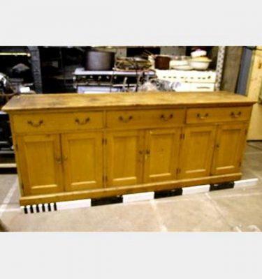 Sideboard Pine 3 Drawer 2300X900X600Deep