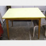 Yellow Formica Top Kitchen Table 910Lx620Wx630H