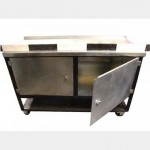 Stainless Steel Workbench With Cupboard X8  970X1500X600Mm