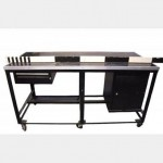 Black Workbench With Cupboard X2  970X1810X770Mm