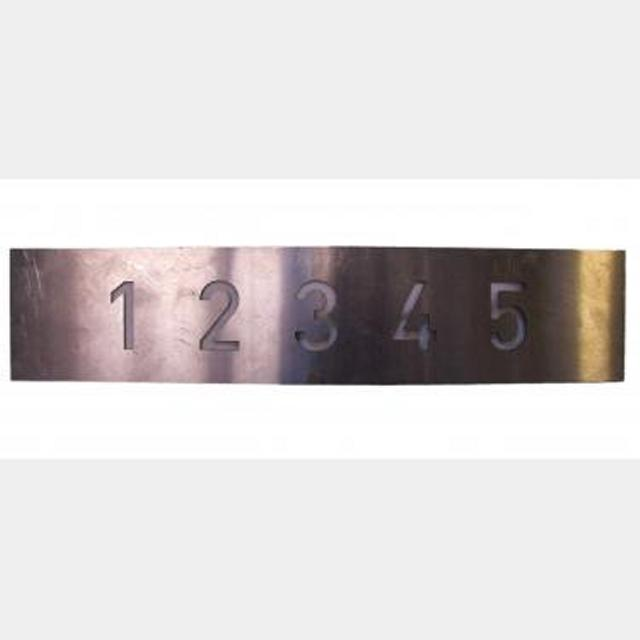 Lift Panel With Stencilled Numbers 350X80Mm