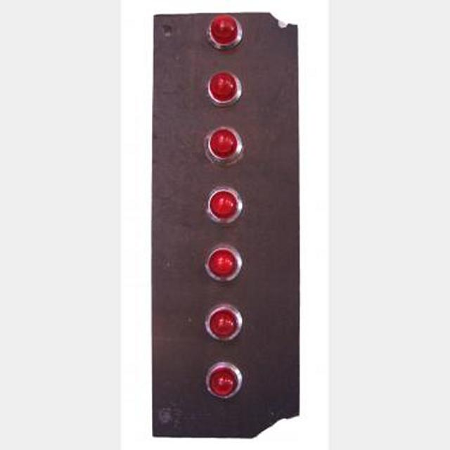 Red Lift Panel With Red Lights   260X90Mm