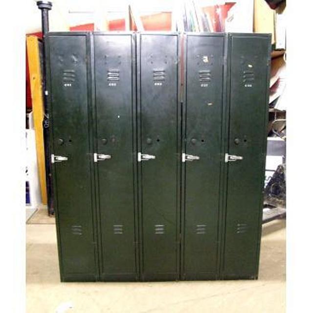 56X Green Single Lockers