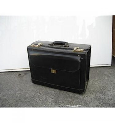 Black Leather Document Briefcase