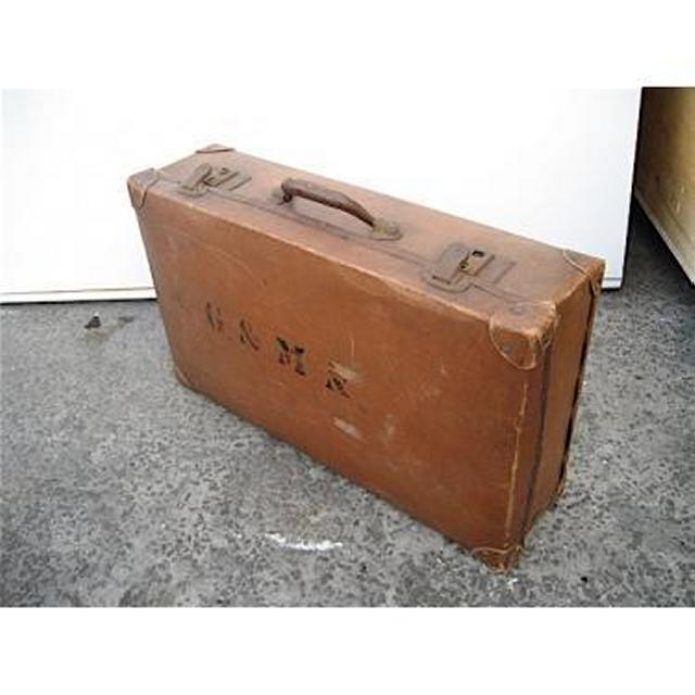 Period Brown Suitcase