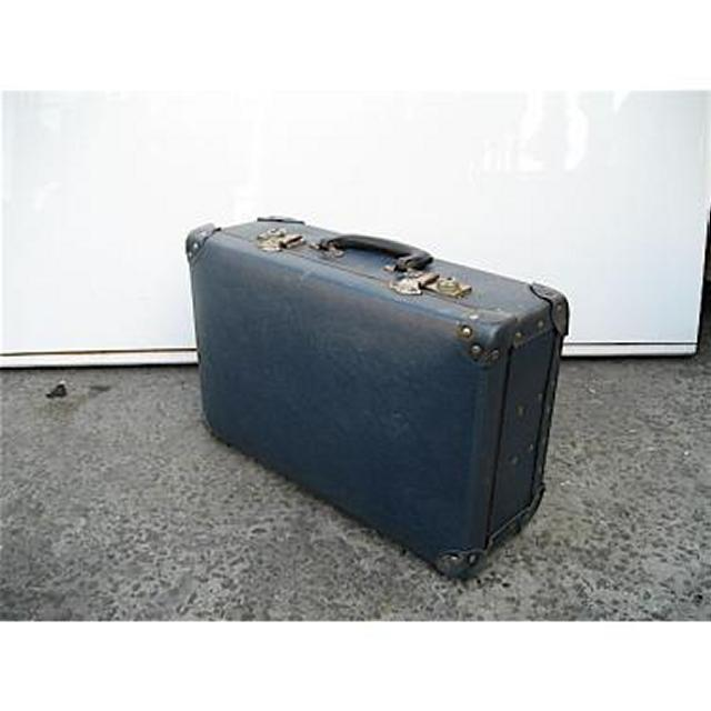 Blue And Brass Edge Suitcase 800X250X450Mm