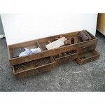 6X Drawer Old Pine Open Top Tool Box