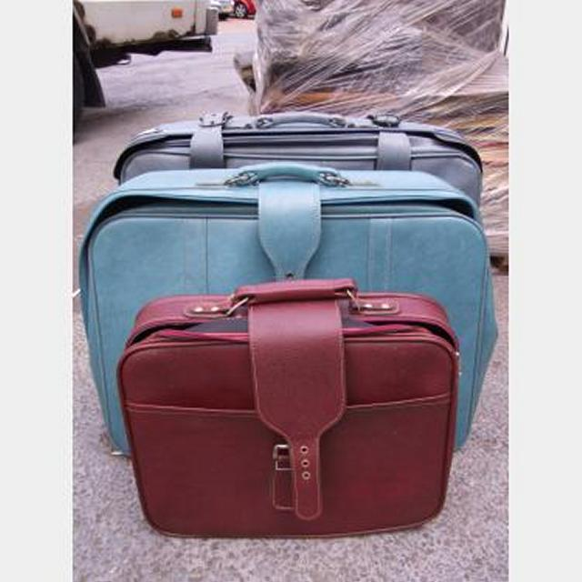 Vintage Leather Suitcases X3