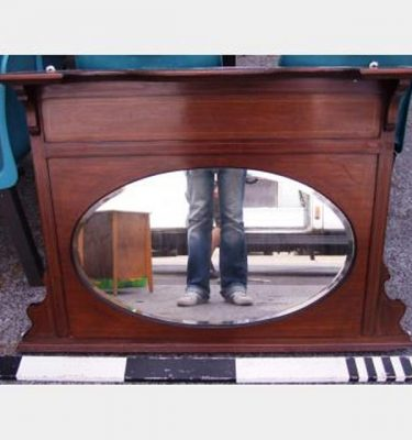 Edwardian Mahogany Over Mantle With Mirror 970X800