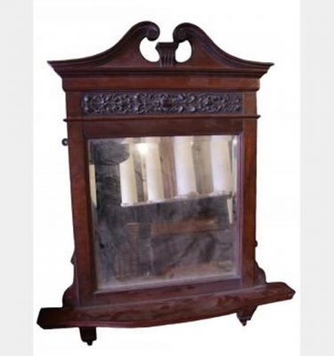Edwardian Over Fire Mantle With Mirror 820X690Mm