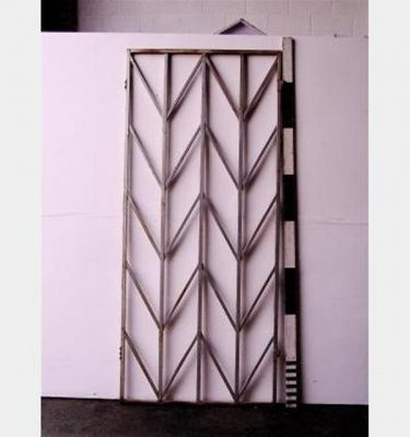 Metal Box Section Chevron Panel X8  1150X2340