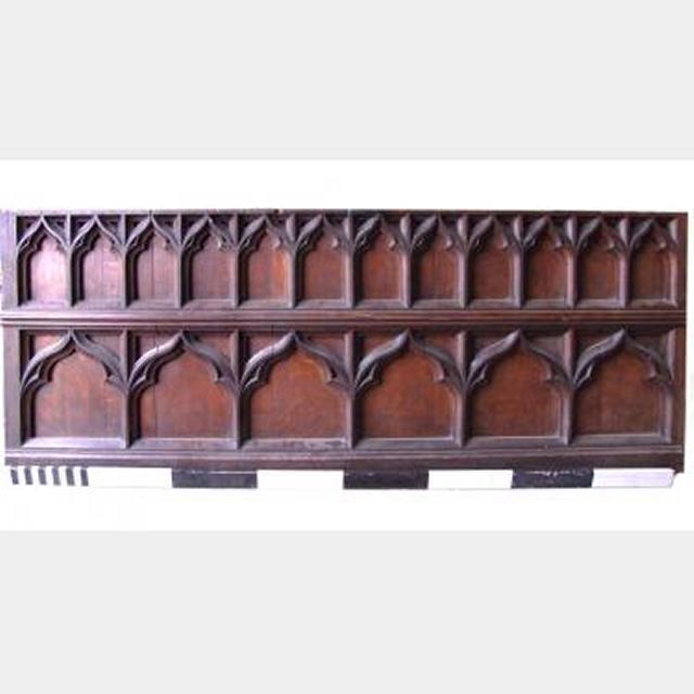Oak Church Dado Rail Tri Fold Design 8'2X3'1_3'4 6 Panels