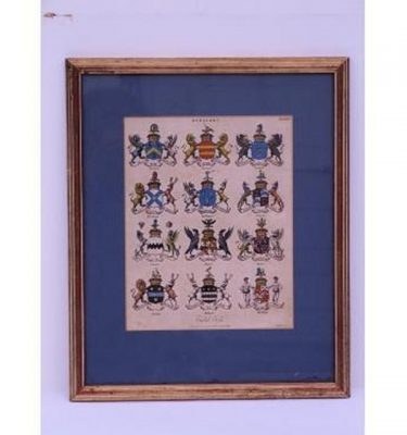 Heraldic Print Gilt Frame  410X340