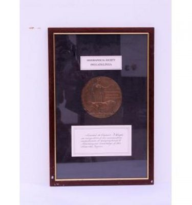 Geographical Phili Bronze Medalsaward Plaque Cetificate 460X310