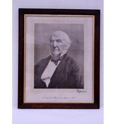 Gladstone Prime Minister  Photo B/W  Oak Frame 870X710