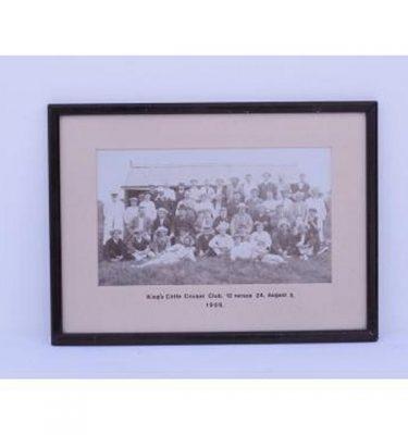 B/W Photo 'Kings Cliffe Cricket Team 1909' 370X270