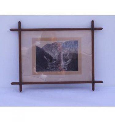 B/W Photo 'Pass Of Aberglasten' In Wood Cross Frame 350X450