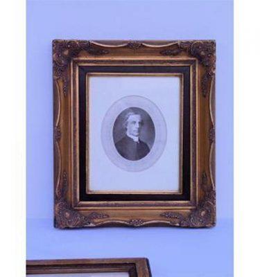 Gilt Frame Clorgyman B/W Photo 400X340