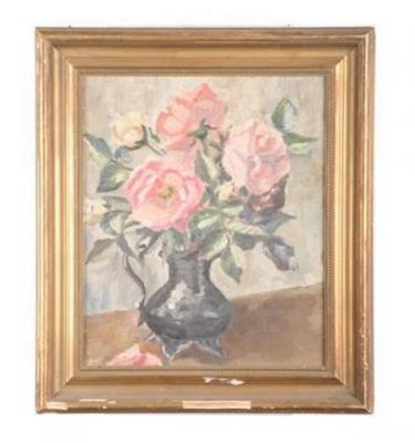 Framed Picture Flowers 390X350