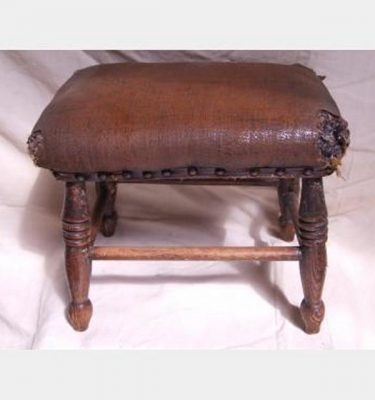 Wooden Stool With Leather Cushion 280X330X240