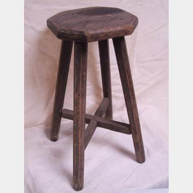 Simple Wooden Stool 380X220X220