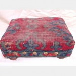 Upholstered Kneeling Stool Red And Blue 120X320X240