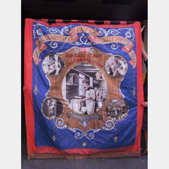 Trade Union Femal Pottery Banner 1900X2300Mm Drop
