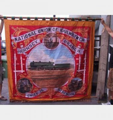 Trade Union Railway Men Banner 2250X2200Mm Drop