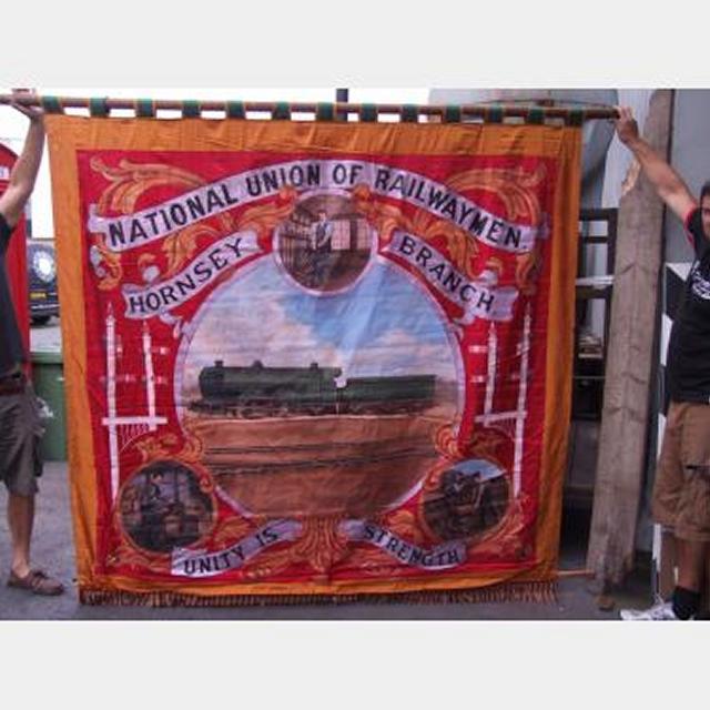 Trade Union Railway Men Banner 2250X2200Mm Drop