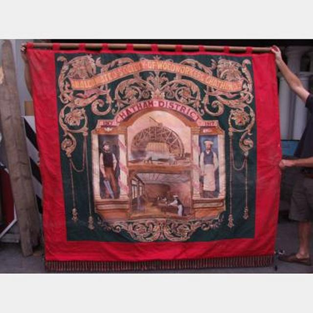 Trade Union Woodworkers Banner 2400X2200Mm Drop