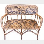 Cane Floral 2 Seater Chair 970X440X870Mm