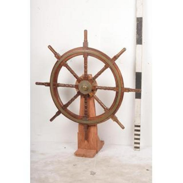 Ships Wheel On Stand 1400X1220X490