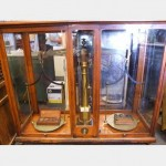 Large Brass Scales In Wood Frame Glass Case 1100Hx1500Lx500W