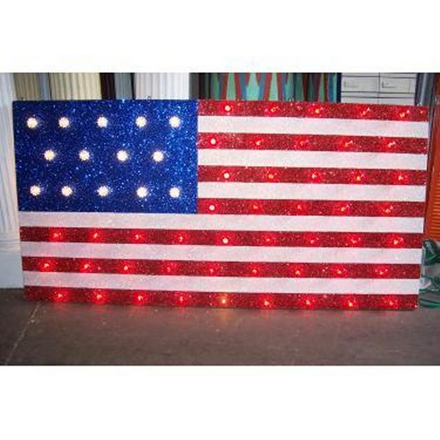 Stars & Stripes Illuminated Flag