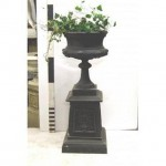 """Urn And Plinth (Joined) 49"""""""""""""""" Tall X 19"""""""""""""""" Dia"""