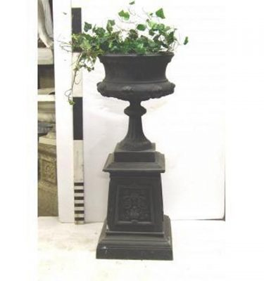 "Urn And Plinth (Joined) 49"""""""" Tall X 19"""""""" Dia"