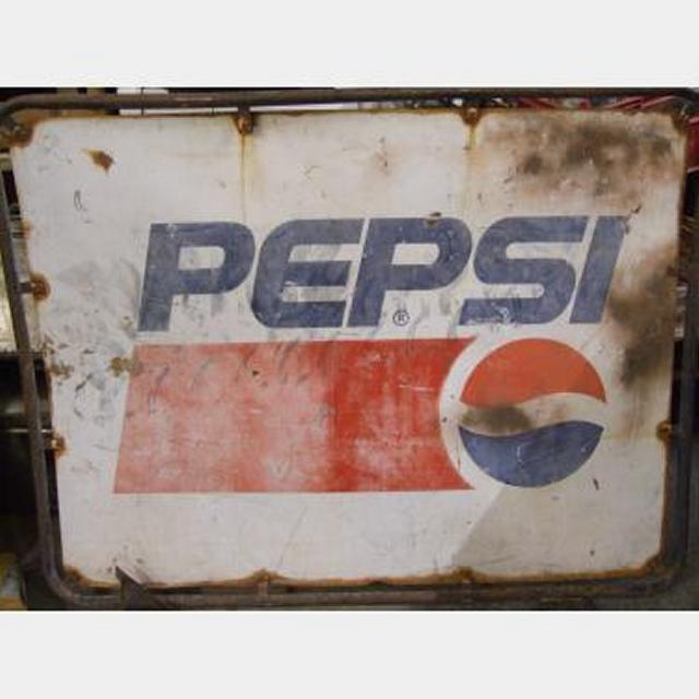 Pepsi Sign  Arabic One Side And English Other Side 1000X1240Mm